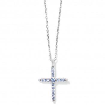 BR JM4183 Color Drops Cross Necklace