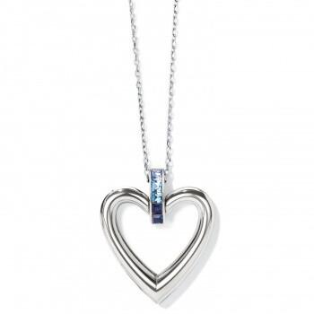 BR JM3672 Spectrum Open Heart Blue Necklace