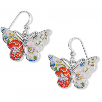 BR JA7743 Blossom Hill Butterfly French Wire Earrings