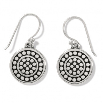 BR JA7310 Pebble Round Reversible French Wire Earrings