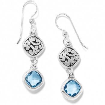 BR JA7413 Elora Gems Sky French Wire Earrings