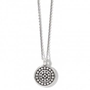 BR JM3982 Pebble Round Reversible Petite Necklace
