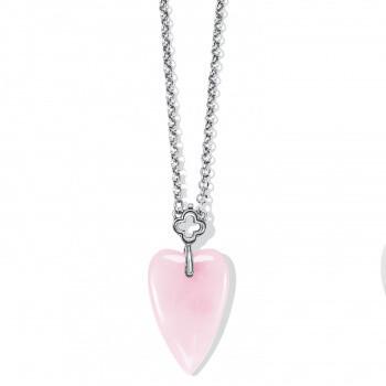 BR JM462C Toledo W/Love Rose Quartz Necklace