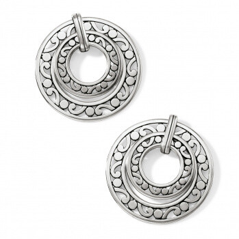 BR JA 7290 Contempo Open Ring Post Earrings