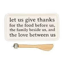 Mud Pie Give Thanks Dishes