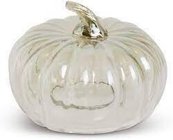 """KKI 7"""" Transparent Glass Pumpkin Cloche"""