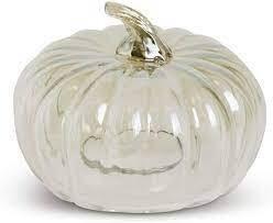 """KKI 6"""" Transparent Glass Pumpkin Clouche"""