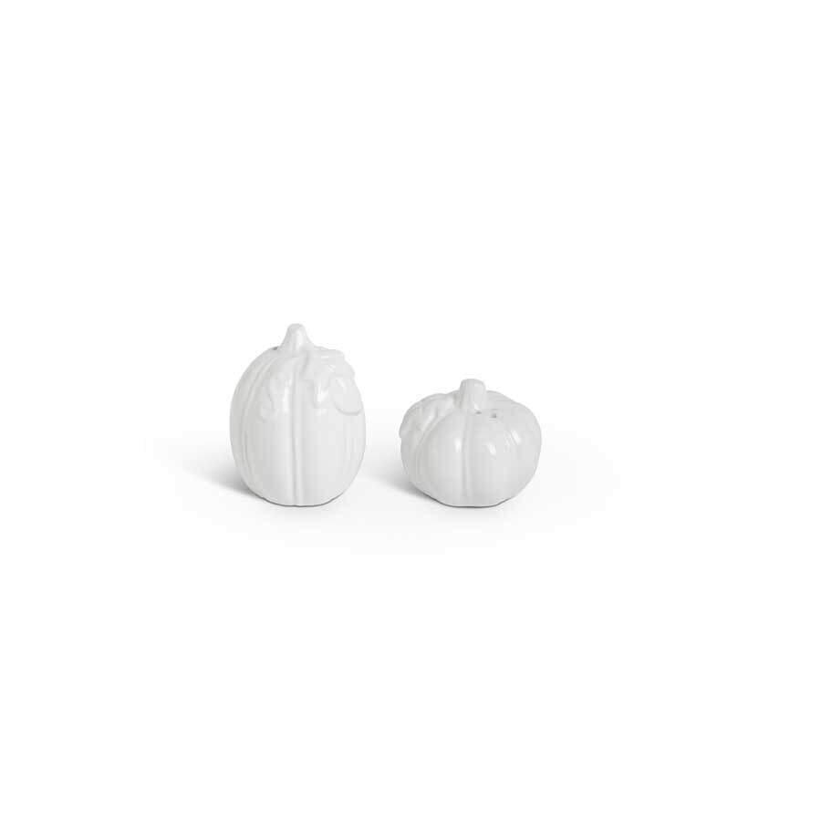 KKI White Dolomite Salt & Pepper Shakers