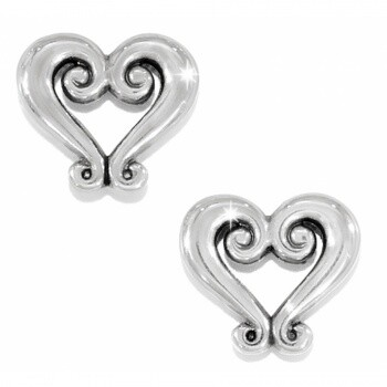Brighton J21630 Silver Genoa Heart Mini Post