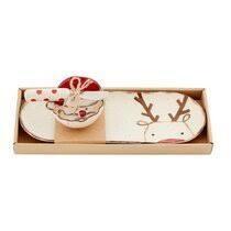 Mud Pie Christmas Farmhouse Tray Dip Bowl Set