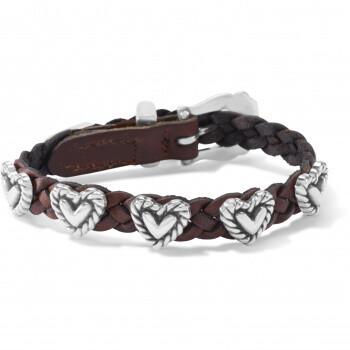 Brighton 07475A Roped Heart Braid Bandit Bracelet