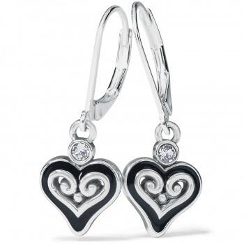 BR JA7853 Alcazar Mystique Heart Leverback Earrings