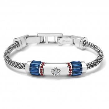 Brighton D29865 Silver Red Blue Independence Bracelet