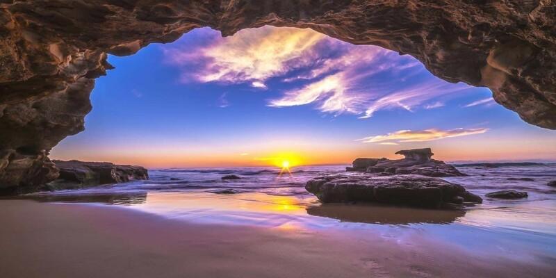 Caves Beach Sunrise - Acrylic