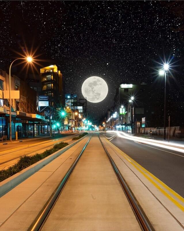 Hunter Street Moonscape - Acrylic