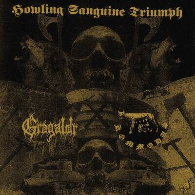 GRÓGALDR (USA) / KOMMODUS (AUS) - Howling Sanguine Triumph [LP]