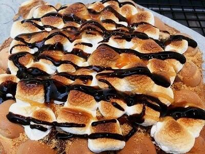 S'mores Dessert Egg Waffle