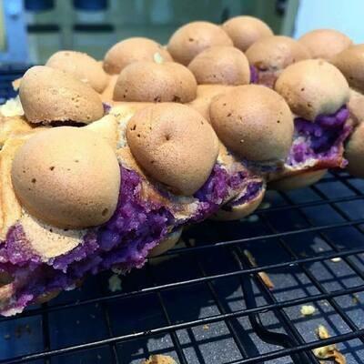 Ube (Purple Yam) Egg Waffle