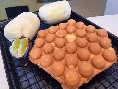 Durian Egg Waffle