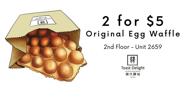 2 Original Egg Waffle for $5