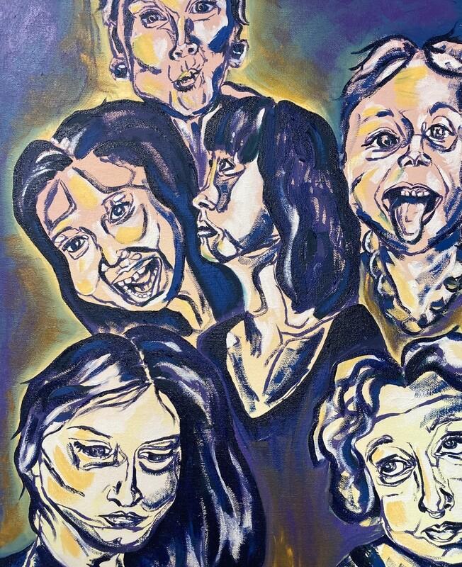Portrait of Six Ladies, Oil Painting, 16