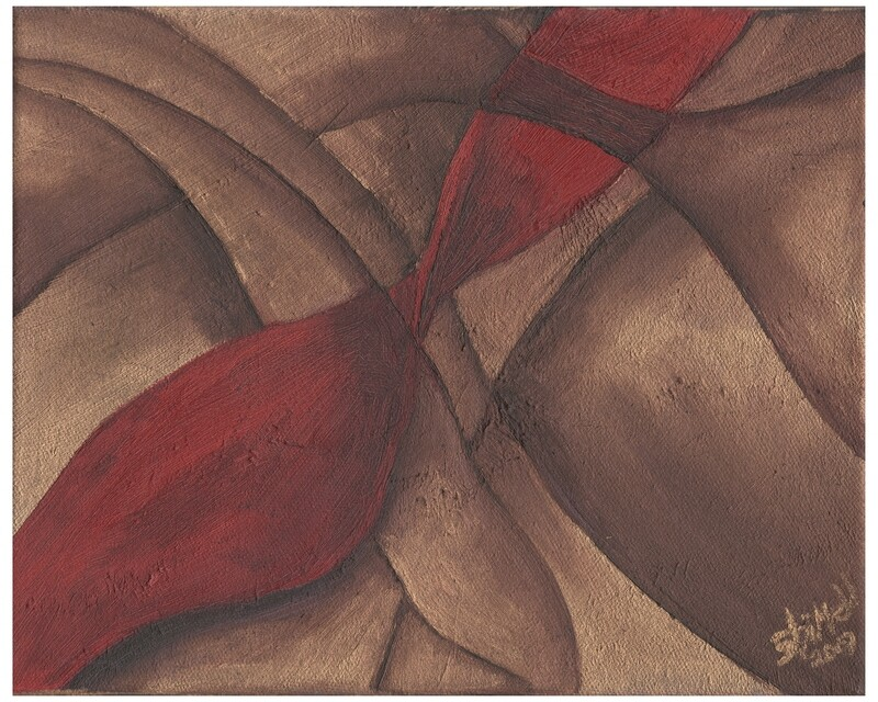 Red Wave #1, Original Oil Painting, 8