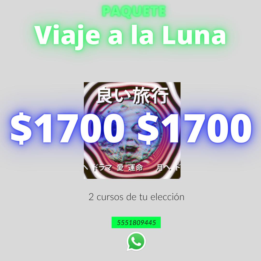 """Paquete """"Viaje a la Luna"""" (2 cursos)"""