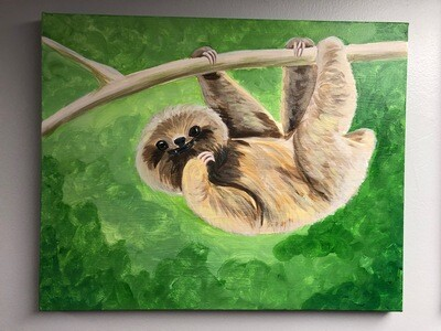 Canvas: Baby Sloth