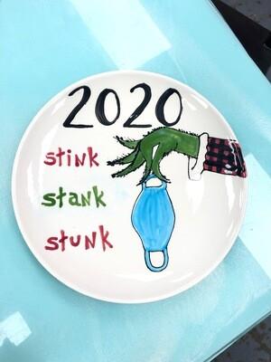 Stink Stank Stuck Plate Design