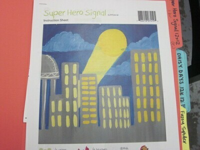 Super Hero Signal 12 x 12 Canvas