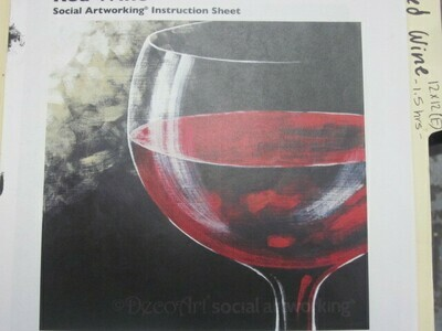 Red Wine 12 x 12 Canvas