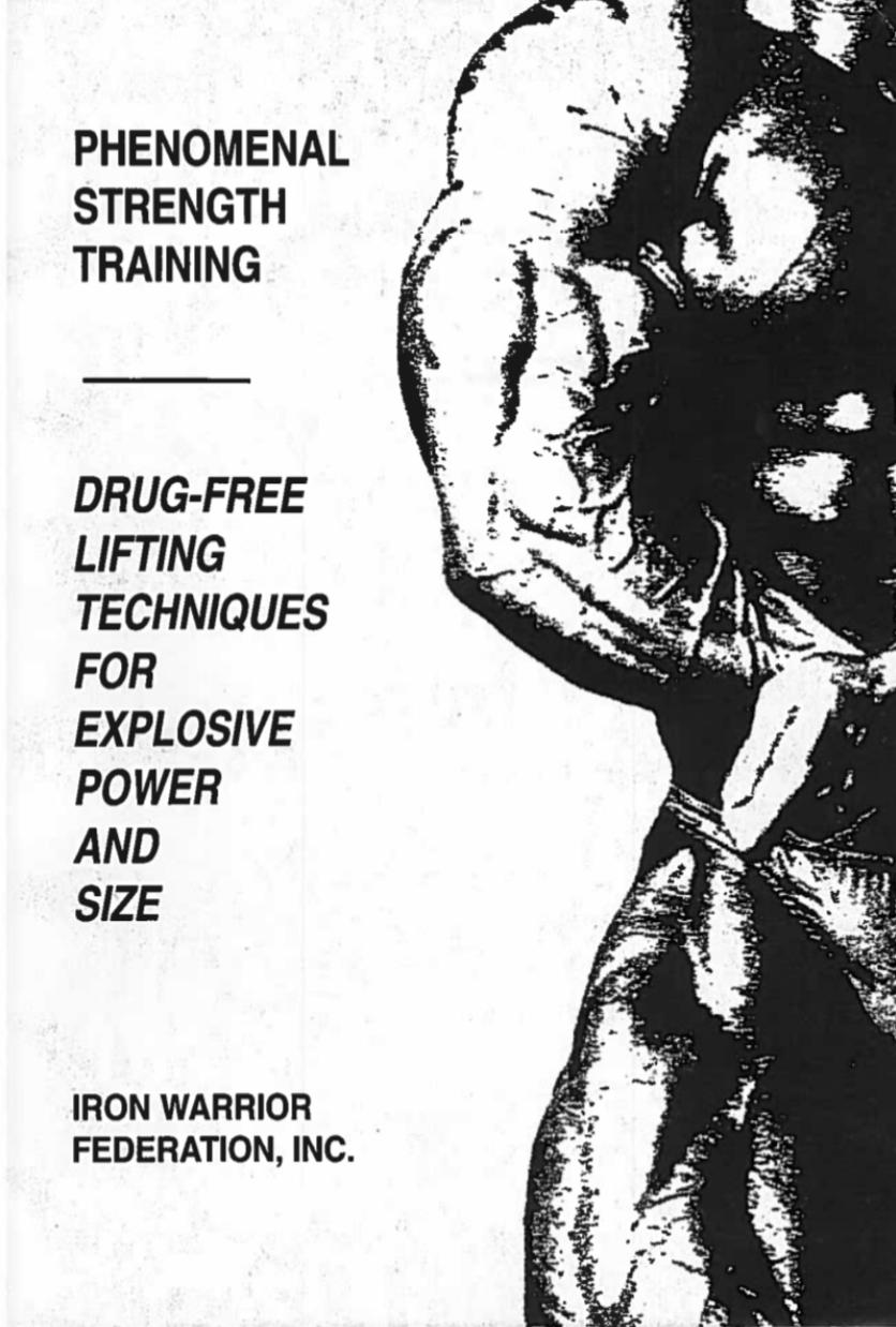 Phenomenal Strength Training Manual Original 1993 Edition (E-Book)