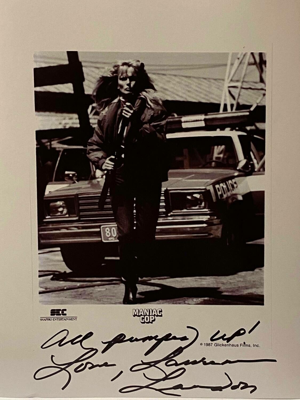 Maniac Cop 8x10 Promo Photo Autographed By Laurene Landon #16