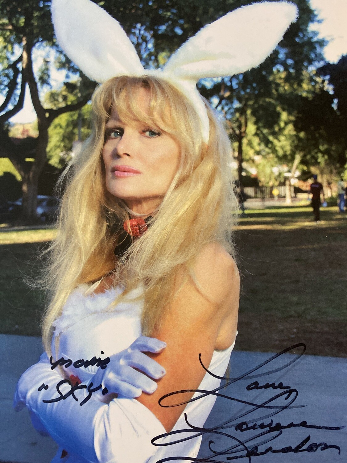 SKY 8x10 Promo Photo Autographed By Laurene Landon Bunny