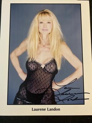 8x10 Promo Photo Autographed By Laurene Landon #23