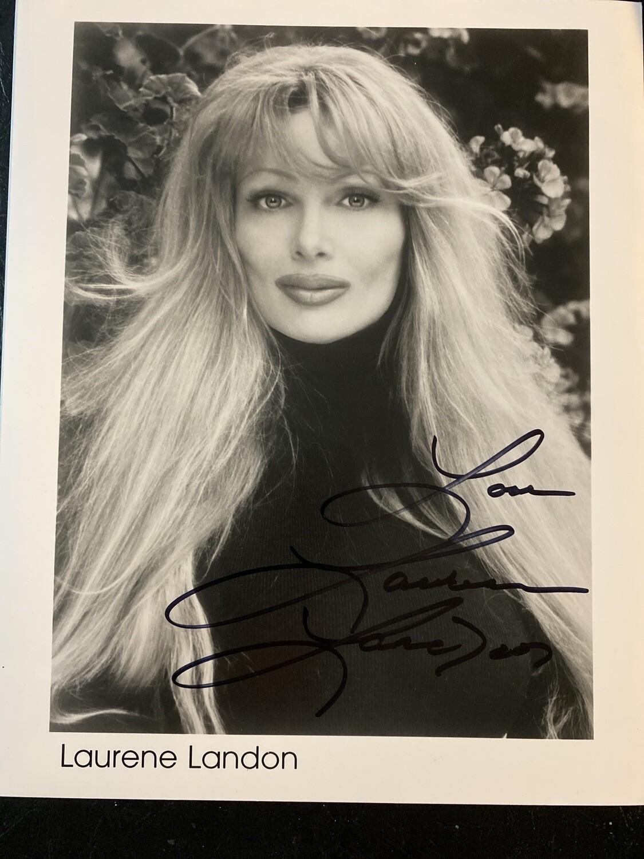 8x10 Promo Photo Autographed By Laurene Landon #2 B&W