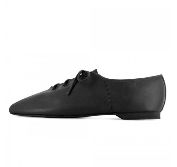Black Full Sole Leather Jazz Shoes