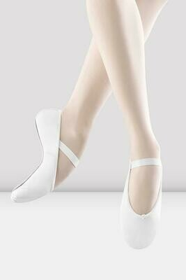 White Leather Full Sole Ballet Shoes