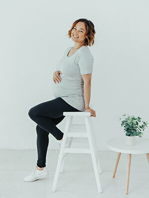 Maternity Ruched GREY Top