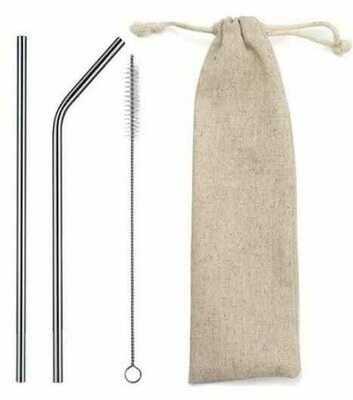 Personalised Stainless Steel Reusable Straw Set