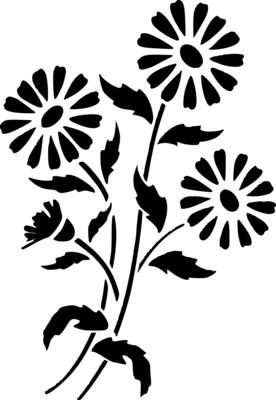 A4 Stencil Daisy