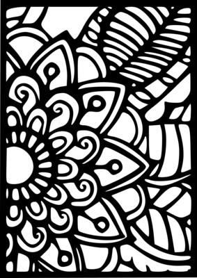 A4 Stencil Boho 1