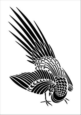 A4 Stencil Bird Elegant