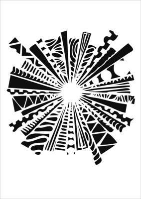 A4 Stencil Explosion