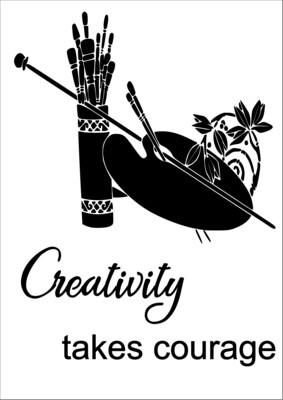 A4 Stencil Creativity