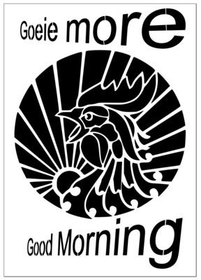 A4 Stencil Good Morning