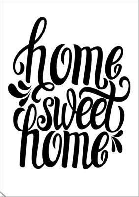 A4 Stencil Home sweet Home