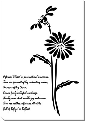 A4 Stencil Natural innocence