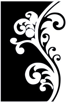 A4 Stencil Filigree 1