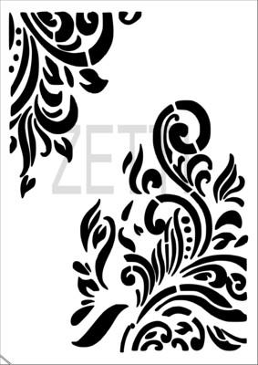 A4 Stencil Filigree 3